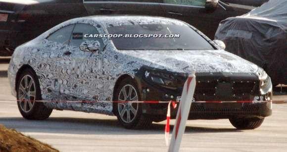 Mercedes S Coupe zdjęcie szpiegowskie