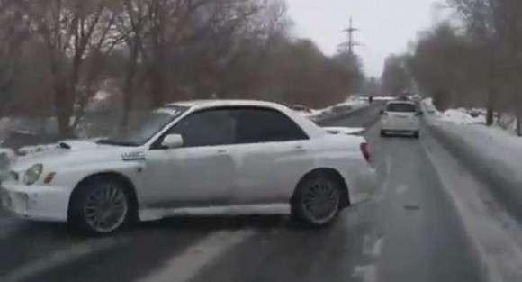 Subaru Impreza WRX poślizg