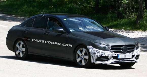 Mercedes klasy C 2015 szpiegowskie