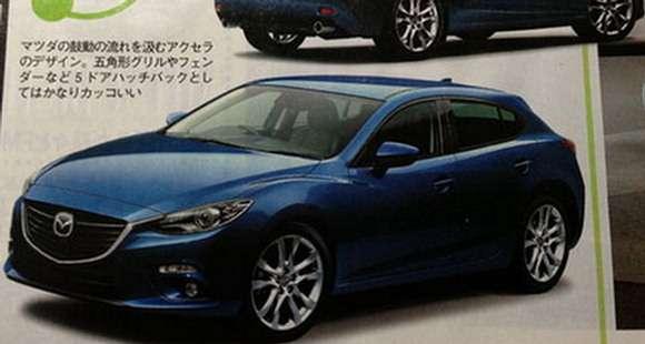 Nowa Mazda3 rendering