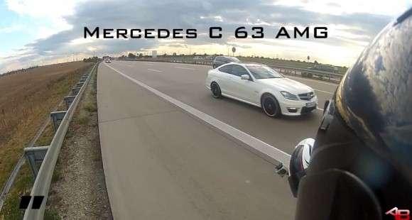 Mercedes C63 AMG Coupe autobahn