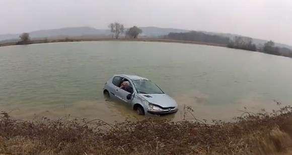 Peugeot 206 jezioro