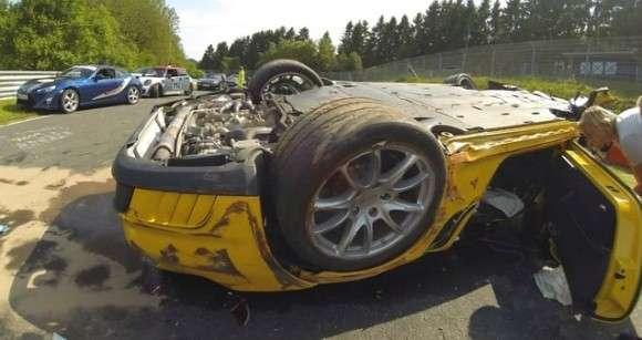 Wypadek Porsche 911 GT2