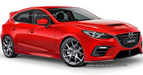 Mazda3 MPS przód rendering 2015